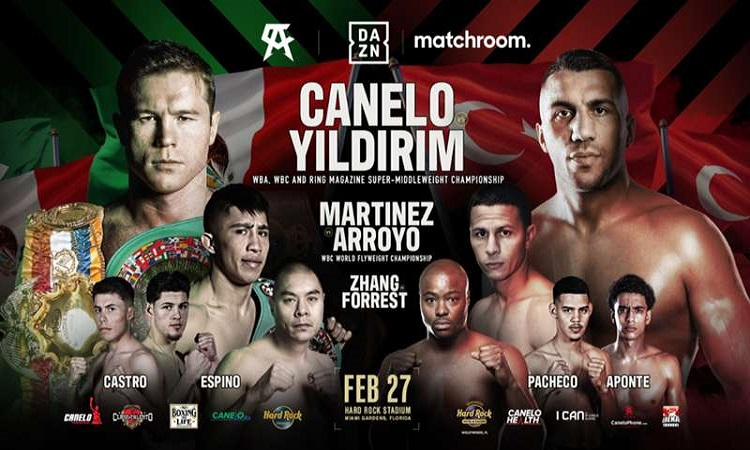 Canelo Alvarez makes a quick turnaround back into the ring tonight against Avni Yildirim with the full card starting around pm ET streaming live