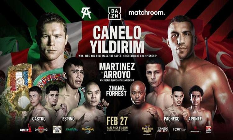 Watch Canelo vs Yildirim Live Stream Online For Free and Streaming Full HD without Registration Canelo Alvarez vs Avni Yildirim Boxing via
